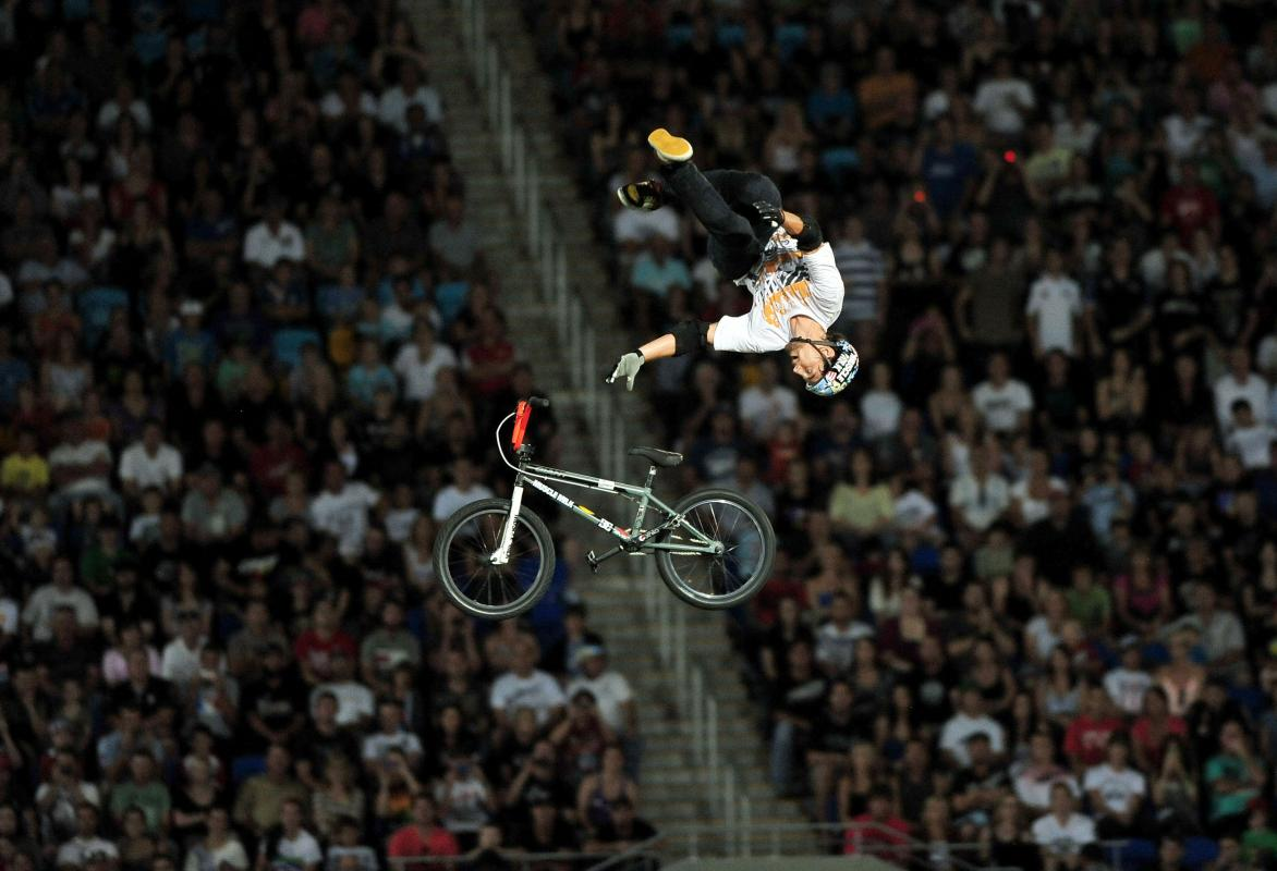 Special Greg pulls the special Flip2011 Nitro Circus Live Tour Skilled Stadium Gold Coast QLD Australia Saturday 2 April 2011© Sport the library / Jeff Crow
