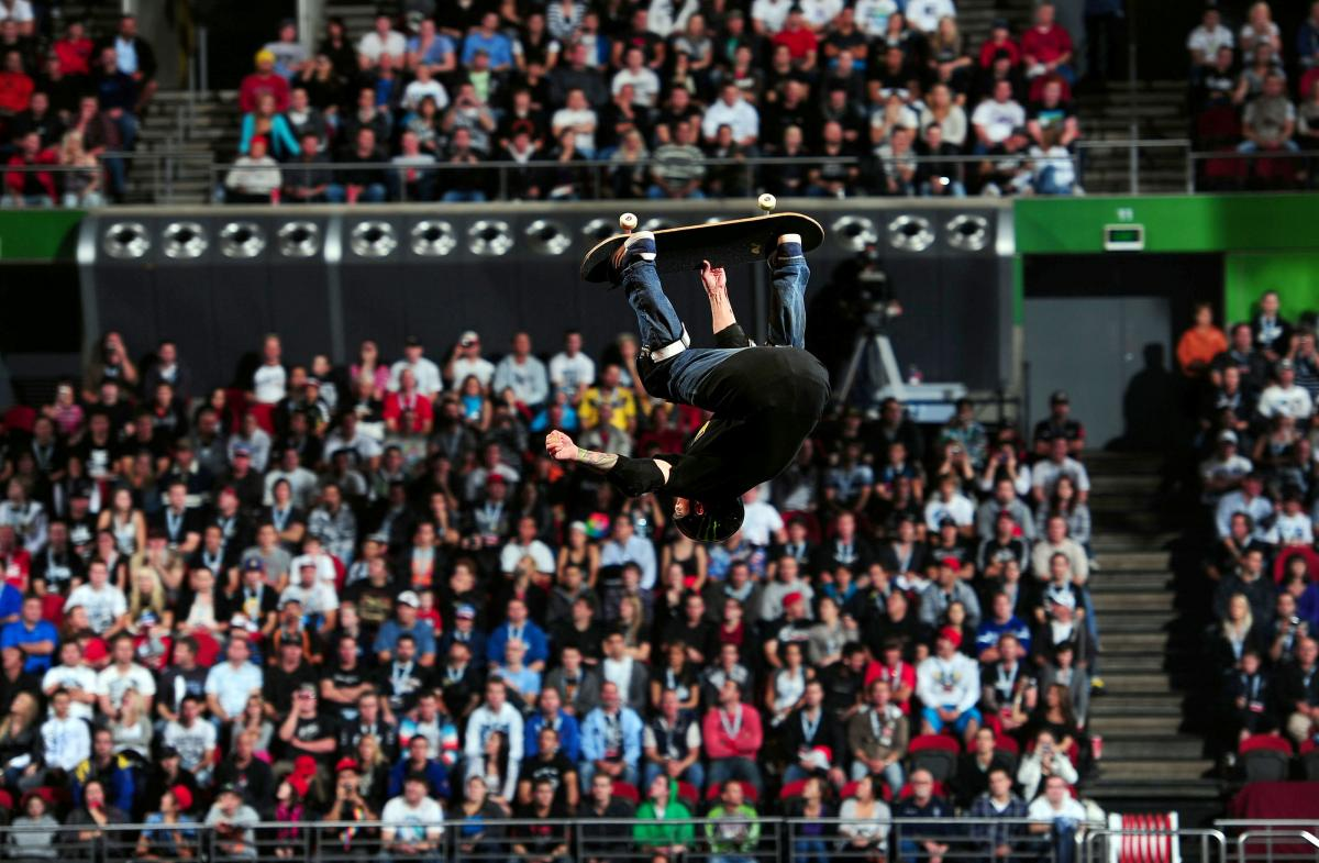 Skater / Jake Brown (AUS)2010 Nitro Circus Live Tour Acer Arena Sydney Australia May 14th - 15th 2010© Sport the library/Jeff Crow