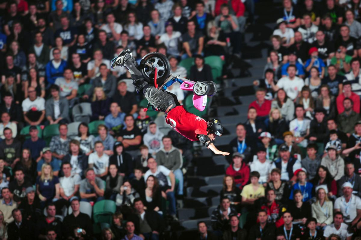 Dusty Wygle 2010 Nitro Circus Live Tour Rod Laver Arena Melbourne Australia June 5th- 7th 2010© Sport the library/Jeff Crow