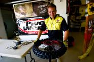 Racer X Films:  Rear Tire Change