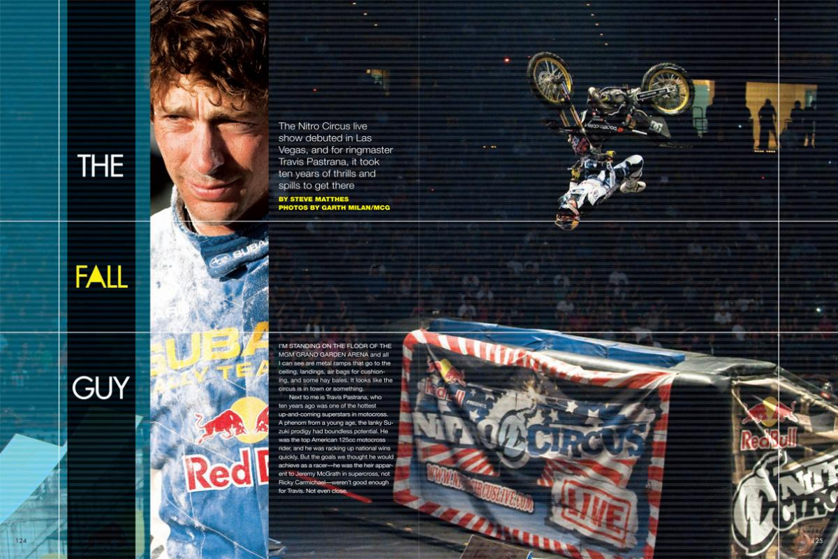 When Travis Pastrana debuted his new Nitro Circus Live show in Las Vegas, we spoke with him about his career, his recent engagement, and where he might go from here. Page 124.