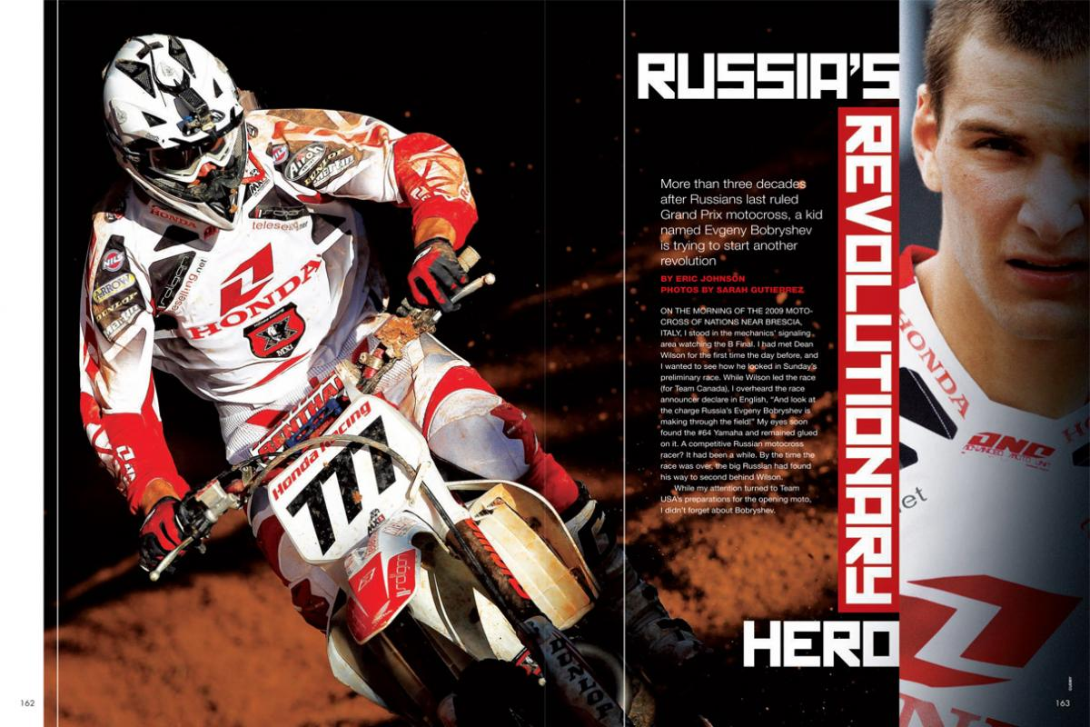 Many of our readers were still waiting to be born when Russia last counted itself as a motocross superpower. In young Evgeny Bobryshev, the sleeping bear may be ready to roar again. Page 162.