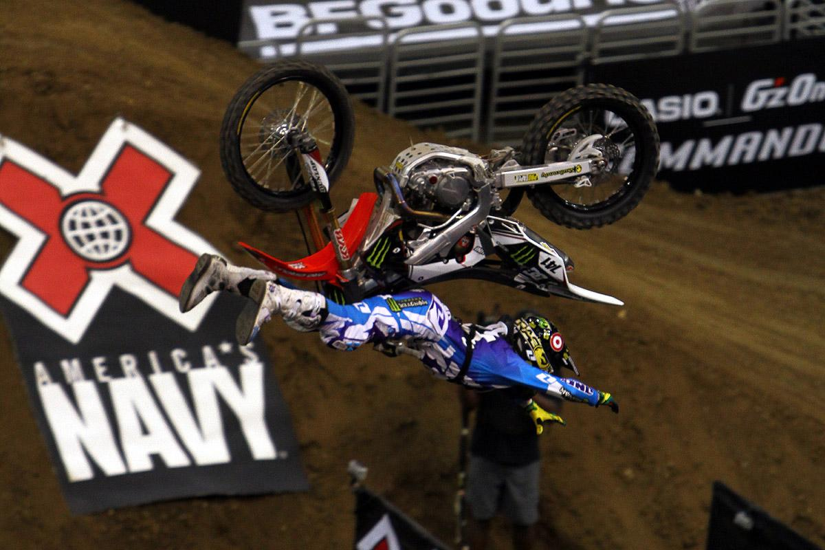 Throwing it upside down was a common theme at X Games 17.