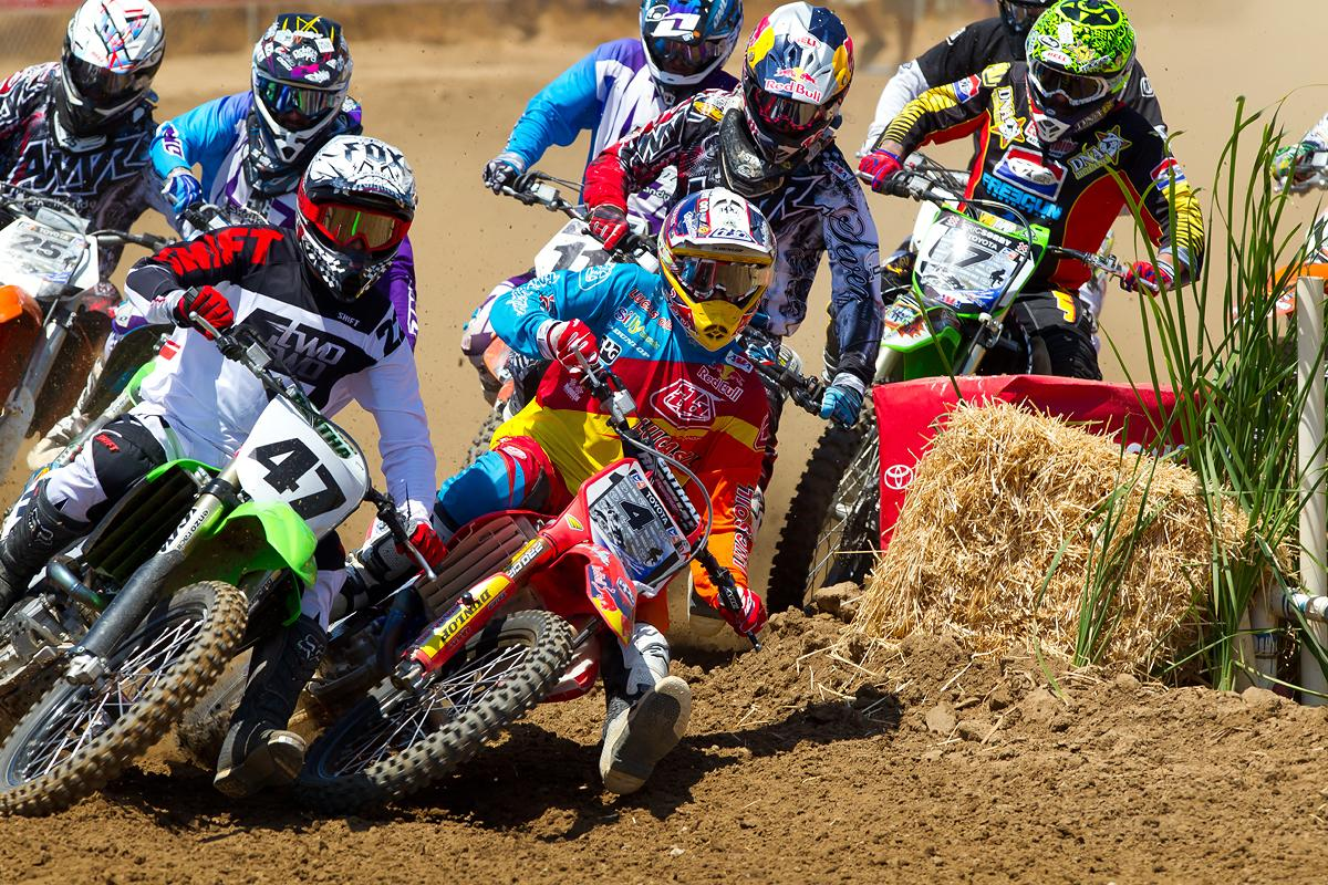 Emig and Craig battling off the start.