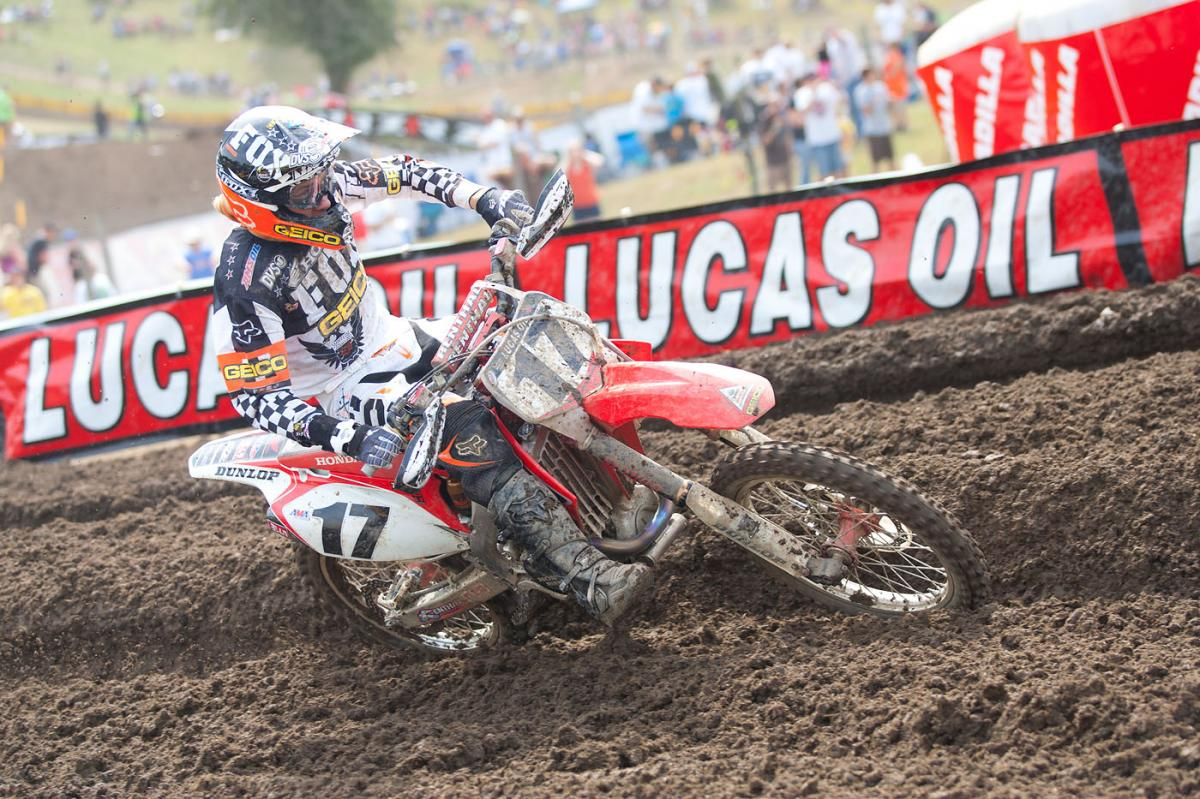 Justin Barcia on a 450