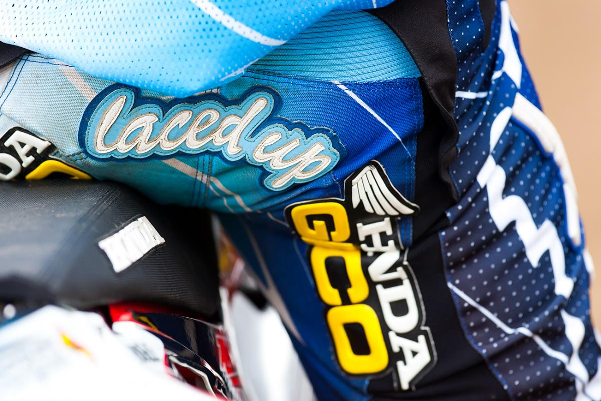 Justin Bogle's bum patch