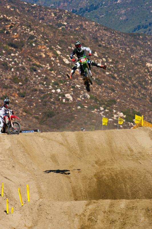 Dean Wilson showing off for Reed