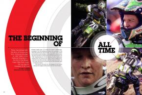 In this in-depth interview, Ricky Carmichael discusses his 1997 AMA 125cc Motocross Championship season—the one that started it all. Page 140.