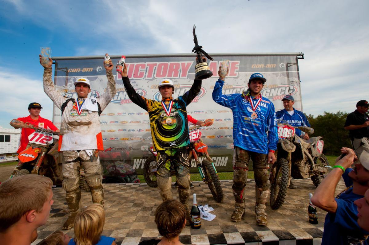 XC1 podium: Mullins, Russell, DuVall
