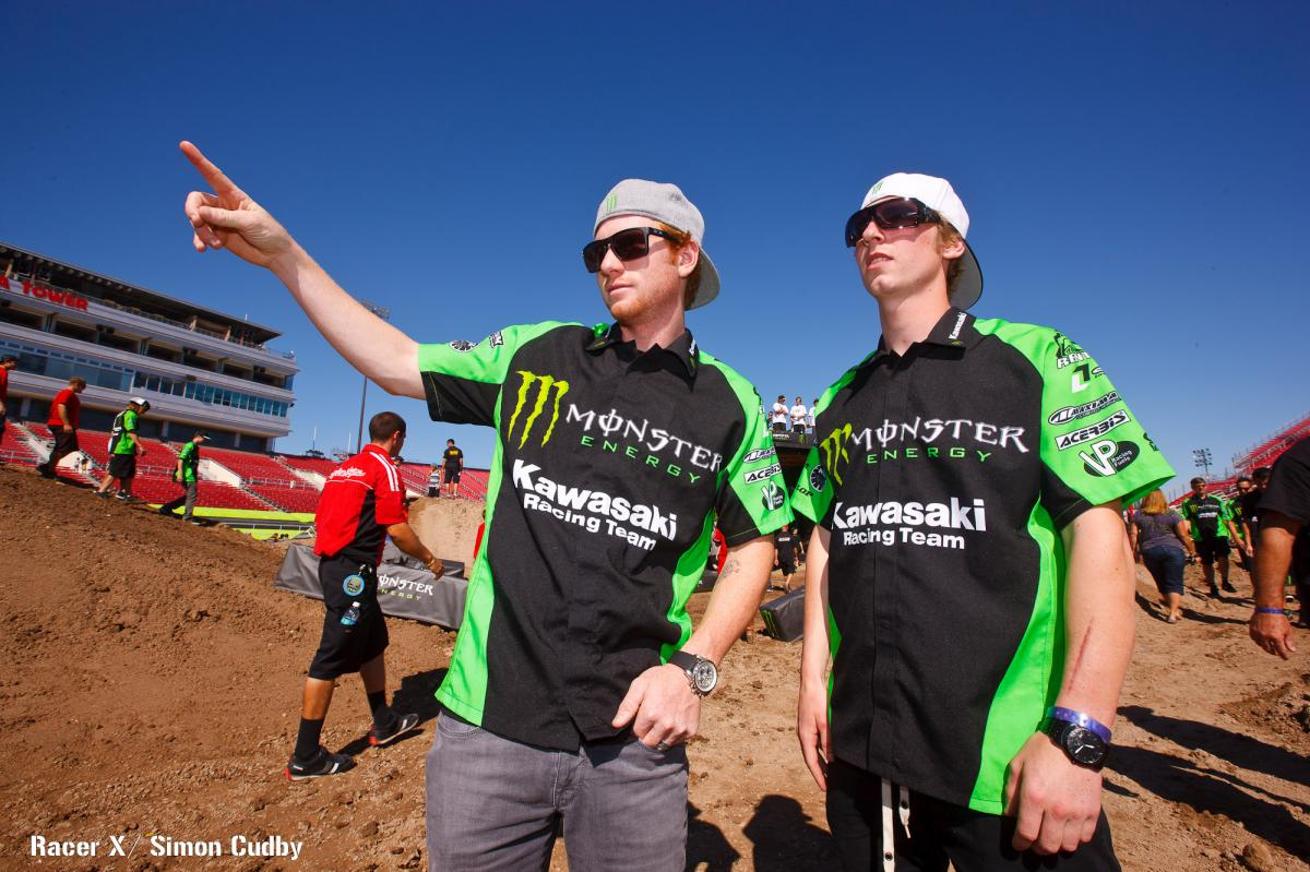 Villopoto and Weimer on track walk
