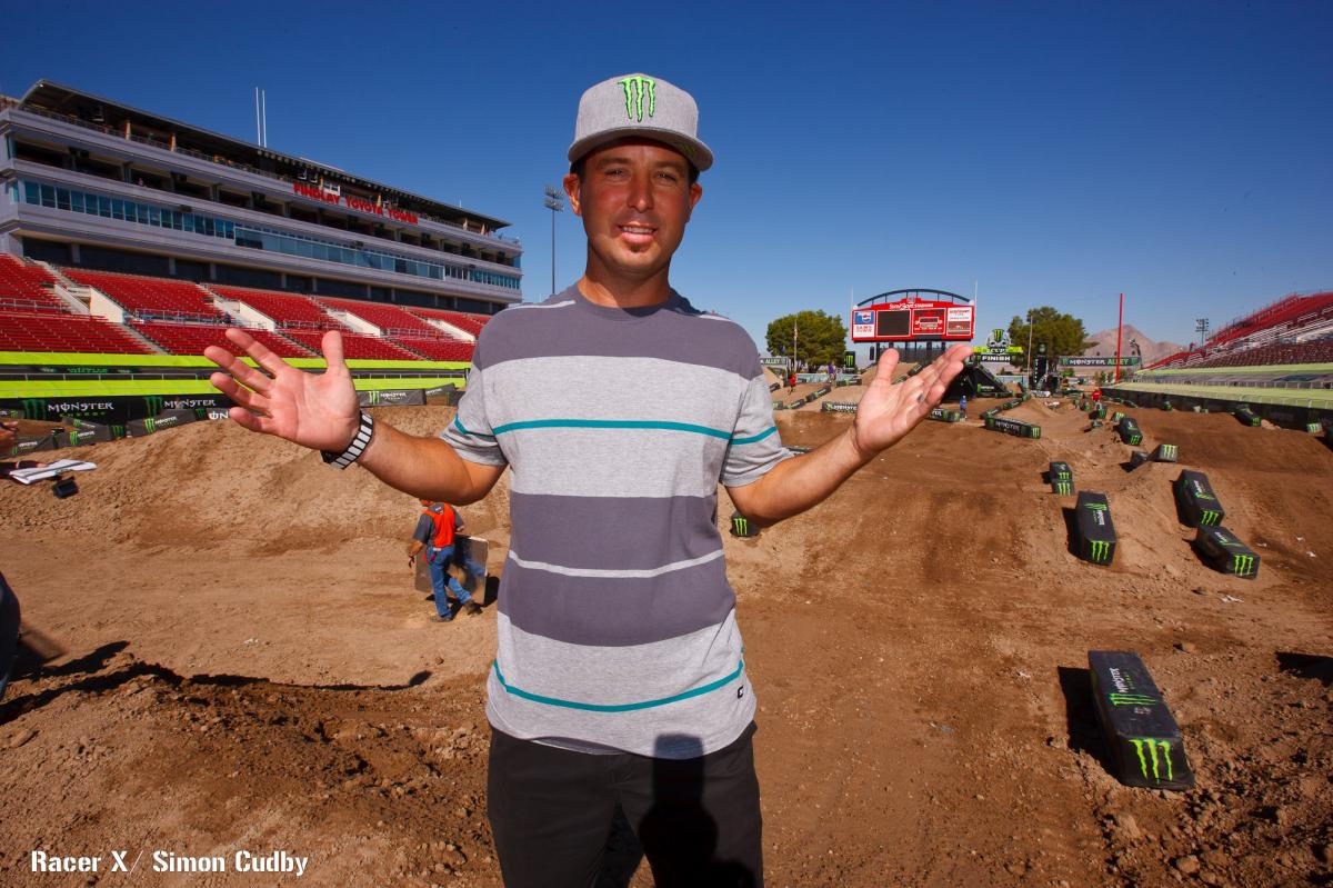 Jeremy McGrath surveys his track design