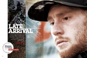 After two years of frustration and injury, Ryan Villopoto is finally king of the moto hill. He's also Racer X's 2011 Rider of the Year. Page 154.