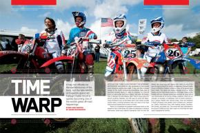 The Vets MXDN (no relation!), held annually at England's historic Farleigh Castle circuit, is the pinnacle of international vintage competition. Page 168.