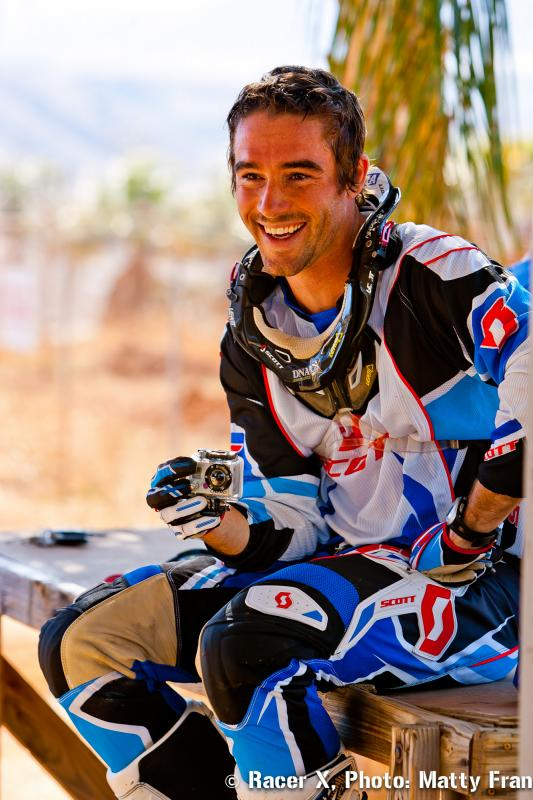Ryan Sipes filming with his GoPro