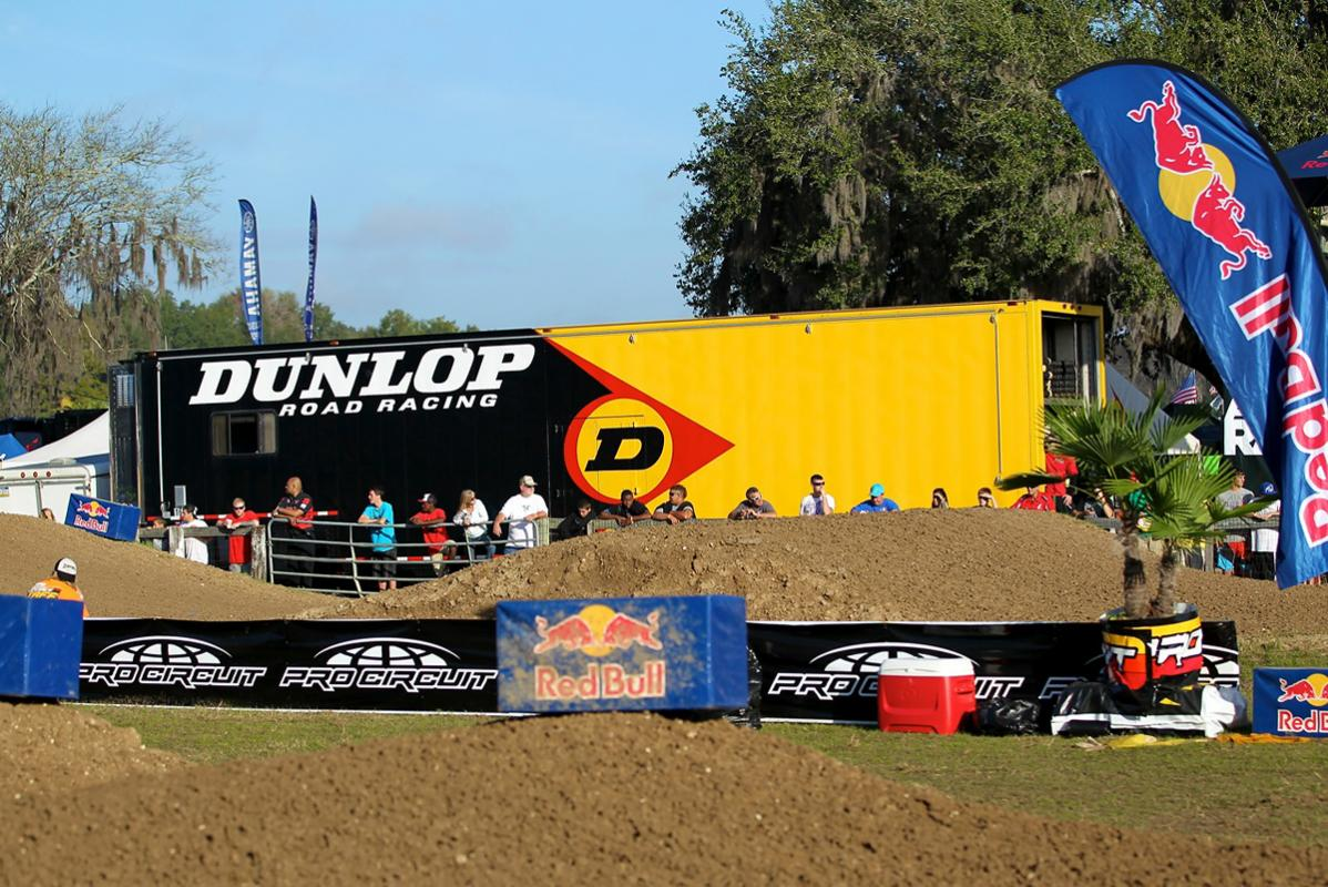 The Dunlop set-up at Mini O's