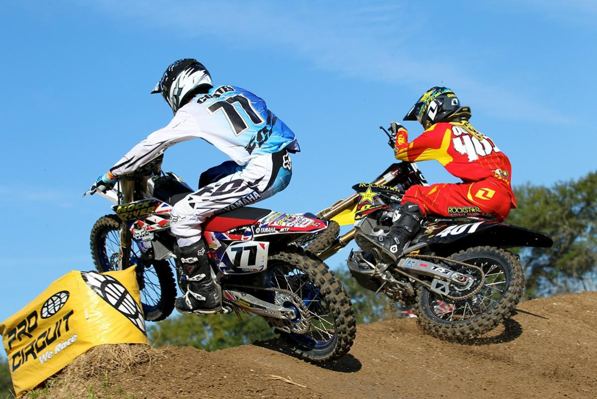 Paul Coates (near) and Jace Owen (far) battling