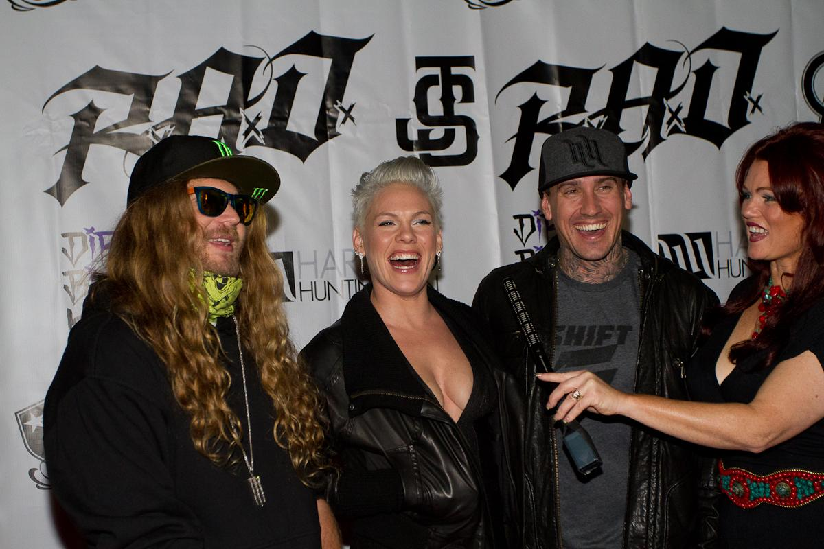 Life time Acheivement winner Carey Hart and his wife Alecia Moore 'Pink'