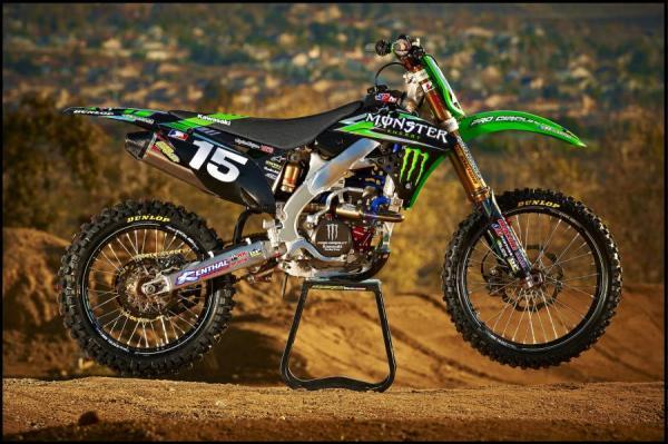 2012 Monster Energy Pro Circuit Kawasaki Race Team Graphics Kit