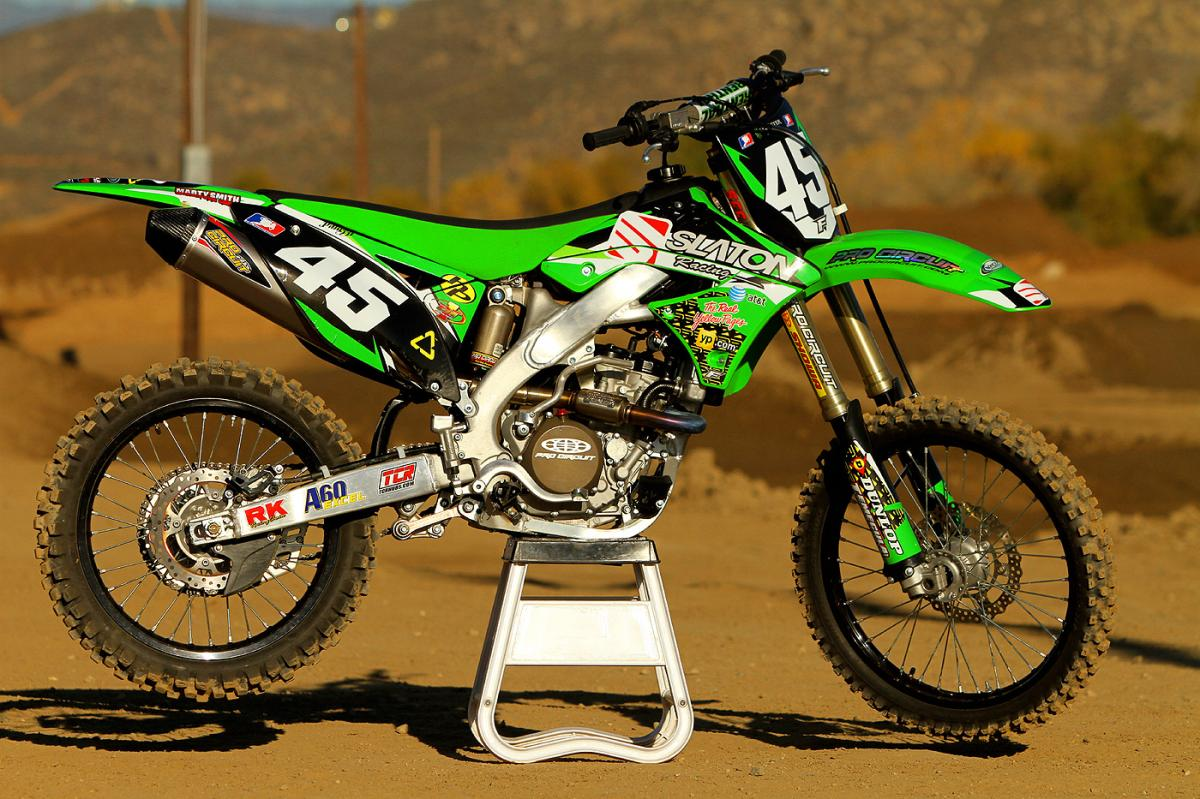 Slaton racing will be running Kawasakis this year