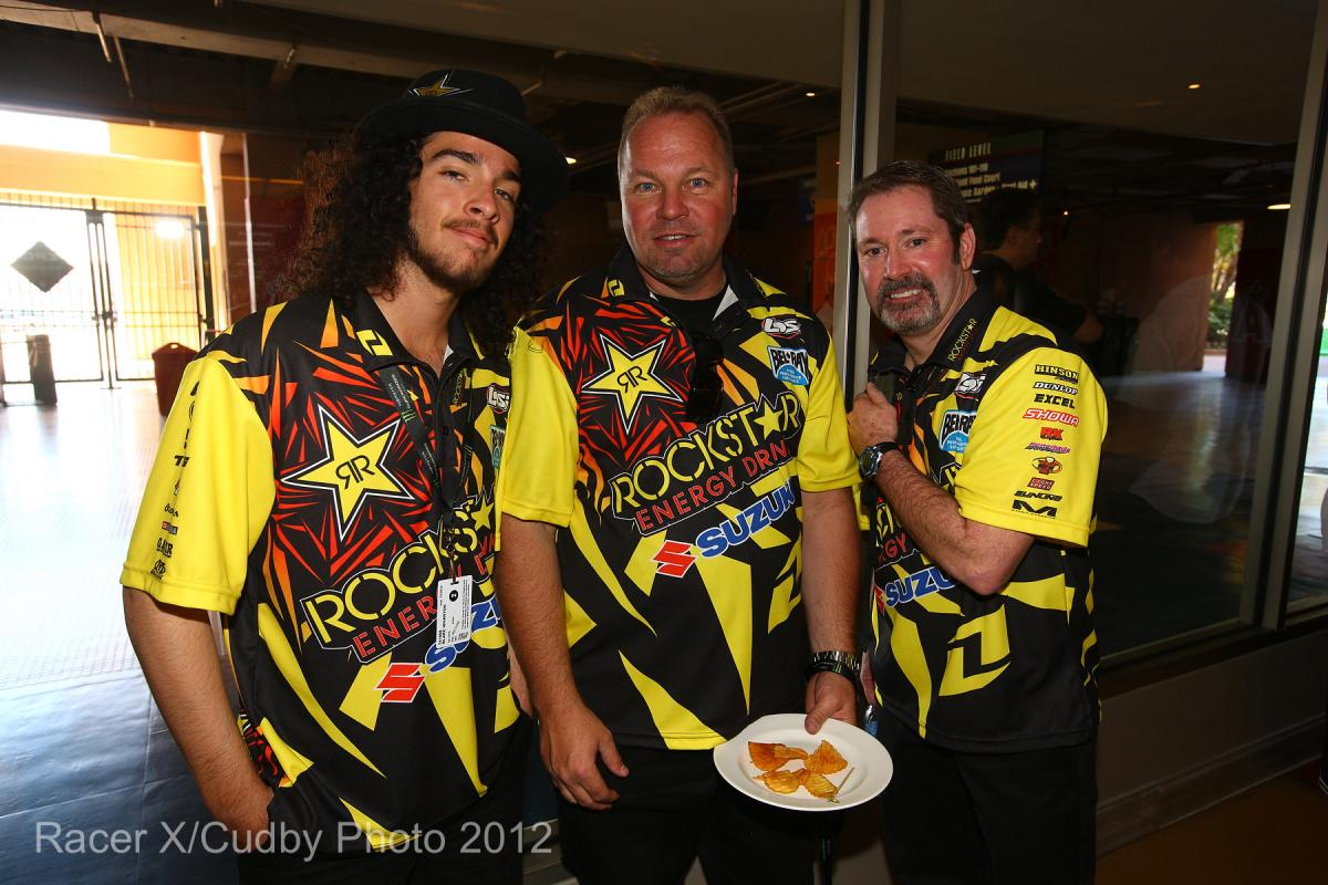 Blake Wharton and the Rockstar Energy Racing crew