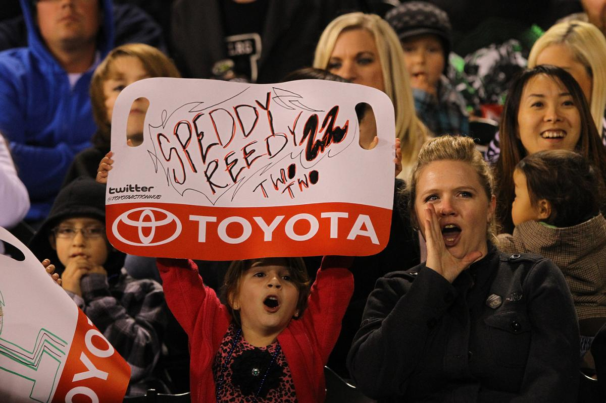 The Fans of Anaheim show their support for Chad Reed