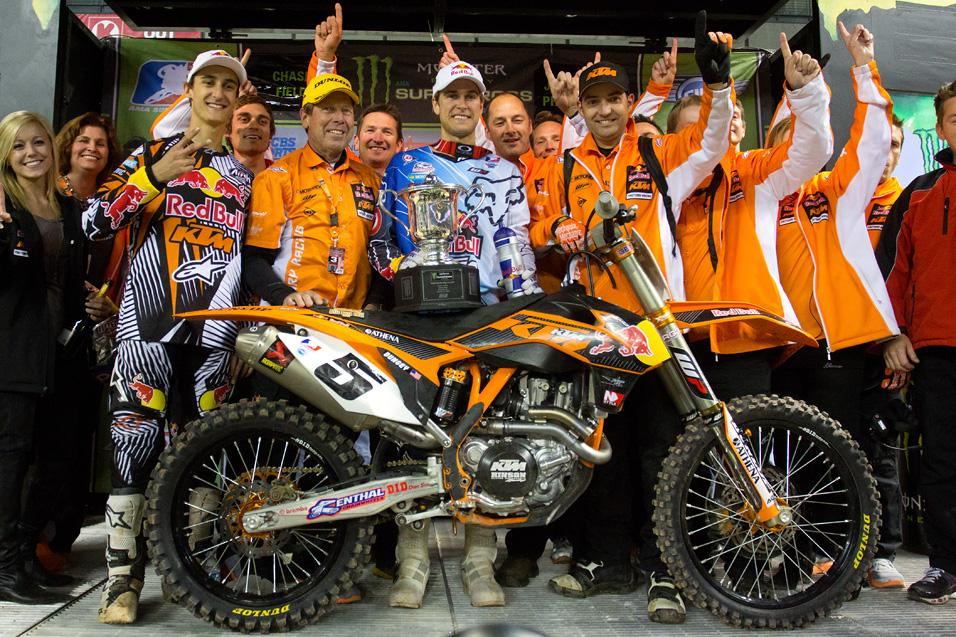 Rapid ReaXtion:<br /> KTM Wins a Supercross