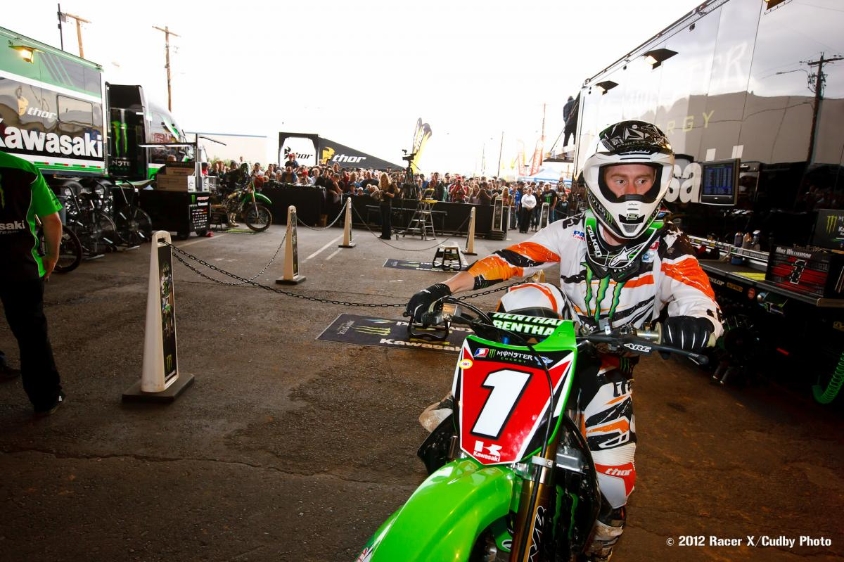 Ryan Villopoto in the pits