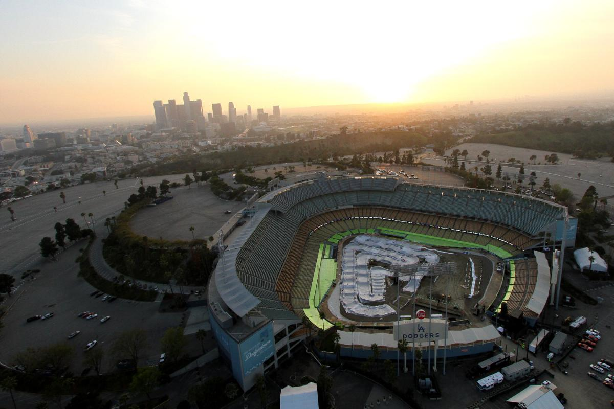 Aerial view of Dodger Stadium