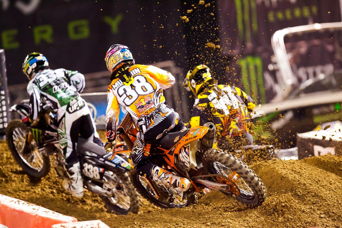 Marvin Musquin chases Anderson and Osborne