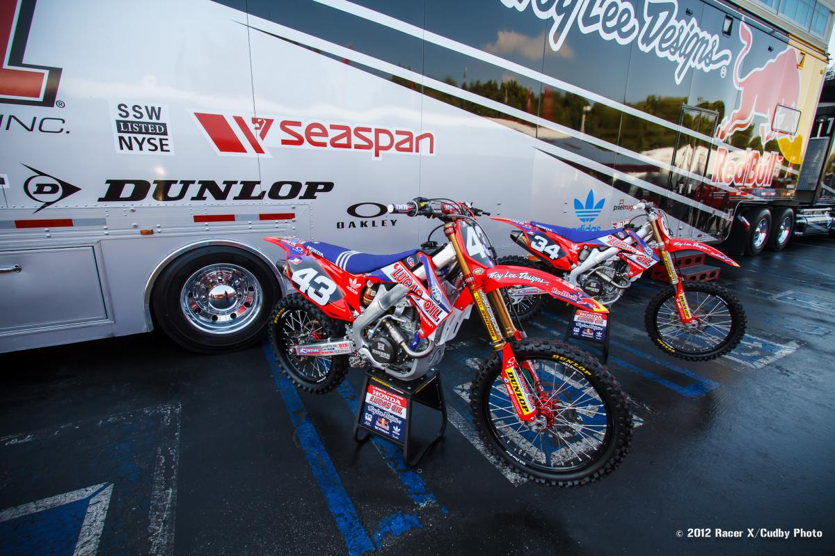 Troy Lee bikes on display