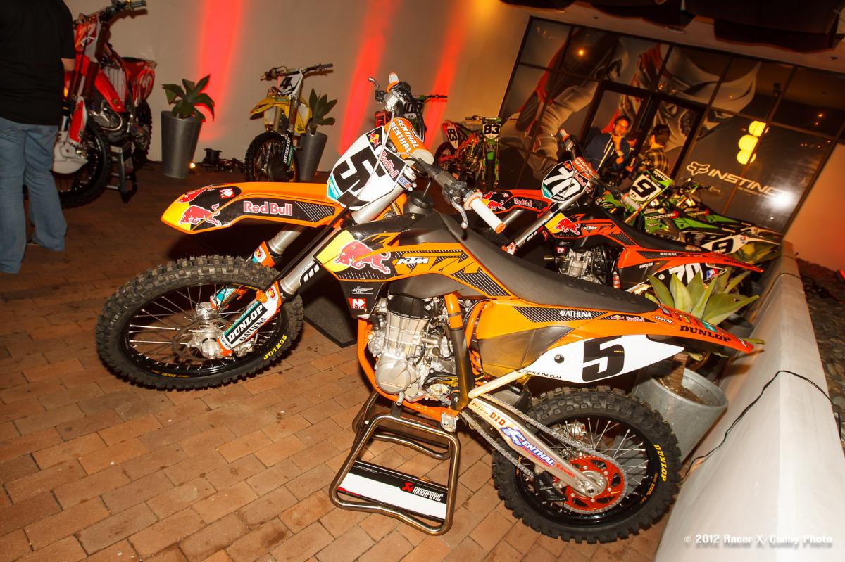 Dungey's KTM on show
