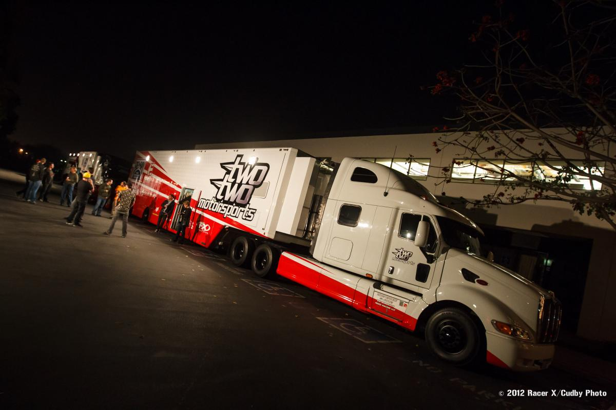The TwoTwo rig took up 25 parking spots!
