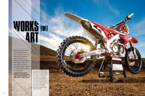 Factory-supported supercross bikes represent the bleeding edge of racing technology. We get the inside scoop from the managers, mechanics, and R&D gurus behind the very best of them. Page 148.