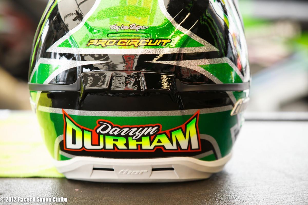 Darryn Durham's helmet.