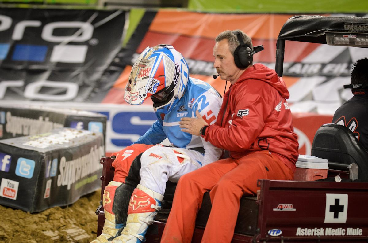 Reed is out for the rest of the SX season after a big crash in Dallas