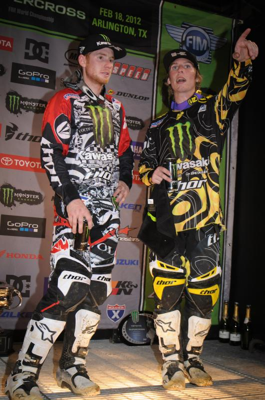 RV and Weimer chat it up on the podium