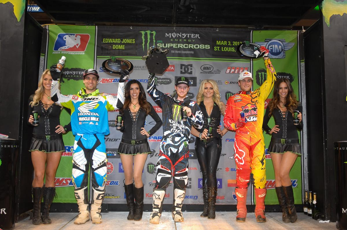Supercross class podium