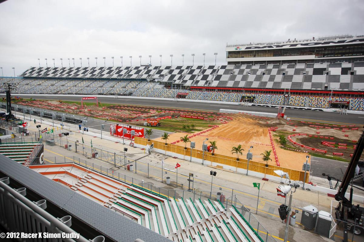 The Daytona track