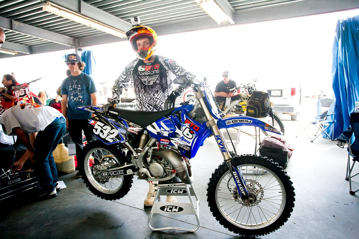 Ricky Renner and his 144cc YZ