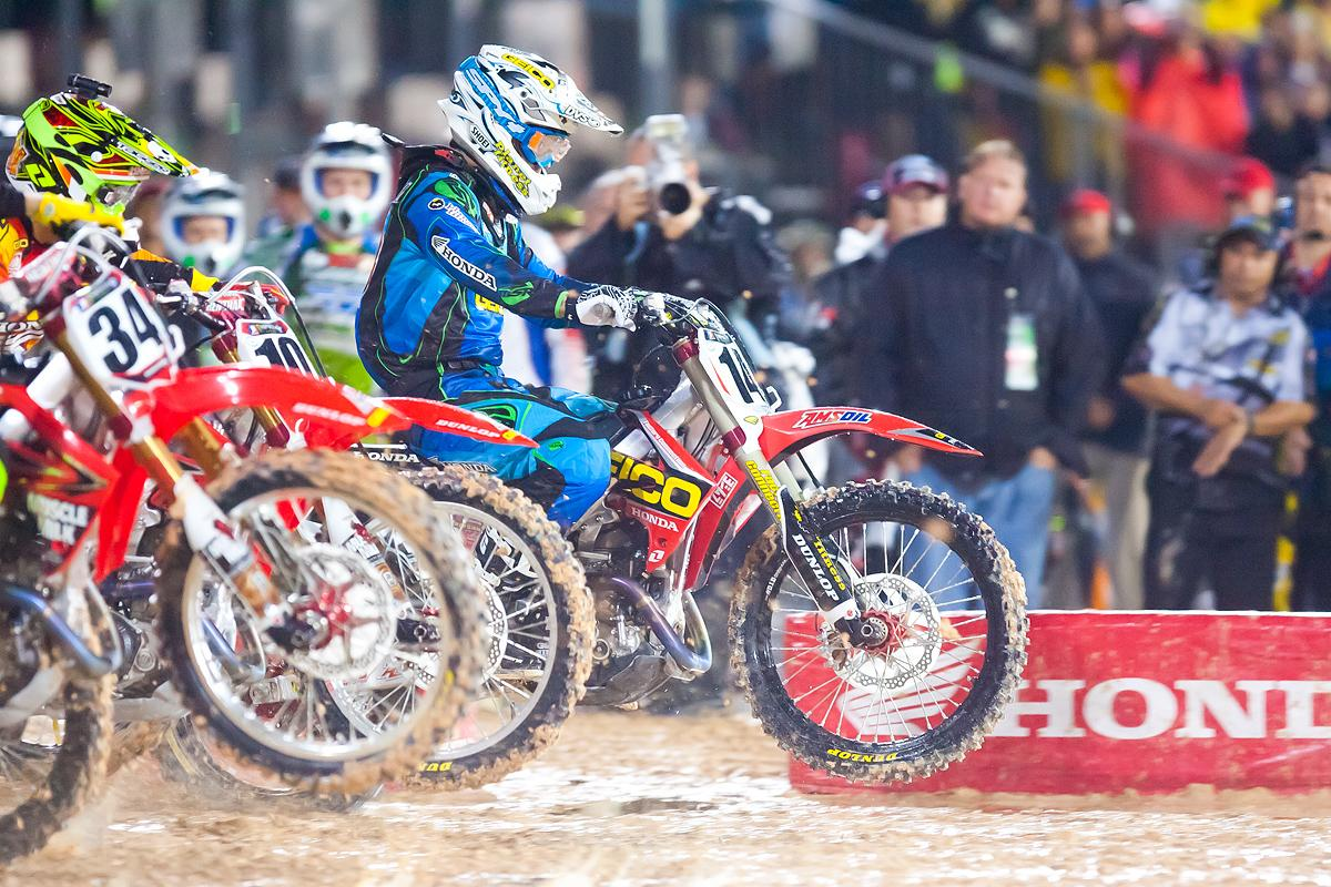 KW with the holeshot