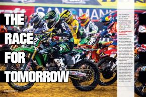 With so much parity in the premier division of Monster Energy Supercross, it's easy to miss the fact that the Lites class is as wide open as it's ever been. Page 140.