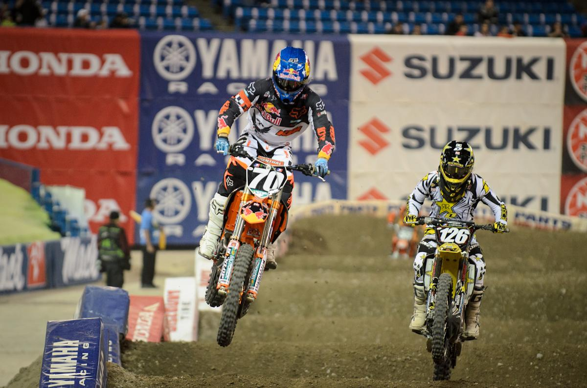 Ken Roczen and Hunter Hewitt
