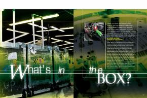 A lot happens to a factory race bike between the podium celebration and the next round's practice. We follow Ryan Villopoto's KX450F—and each of its parts—across the country and back. Page 130.