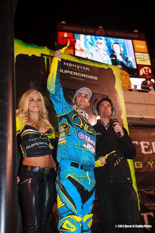 Davi Millsaps on the podium