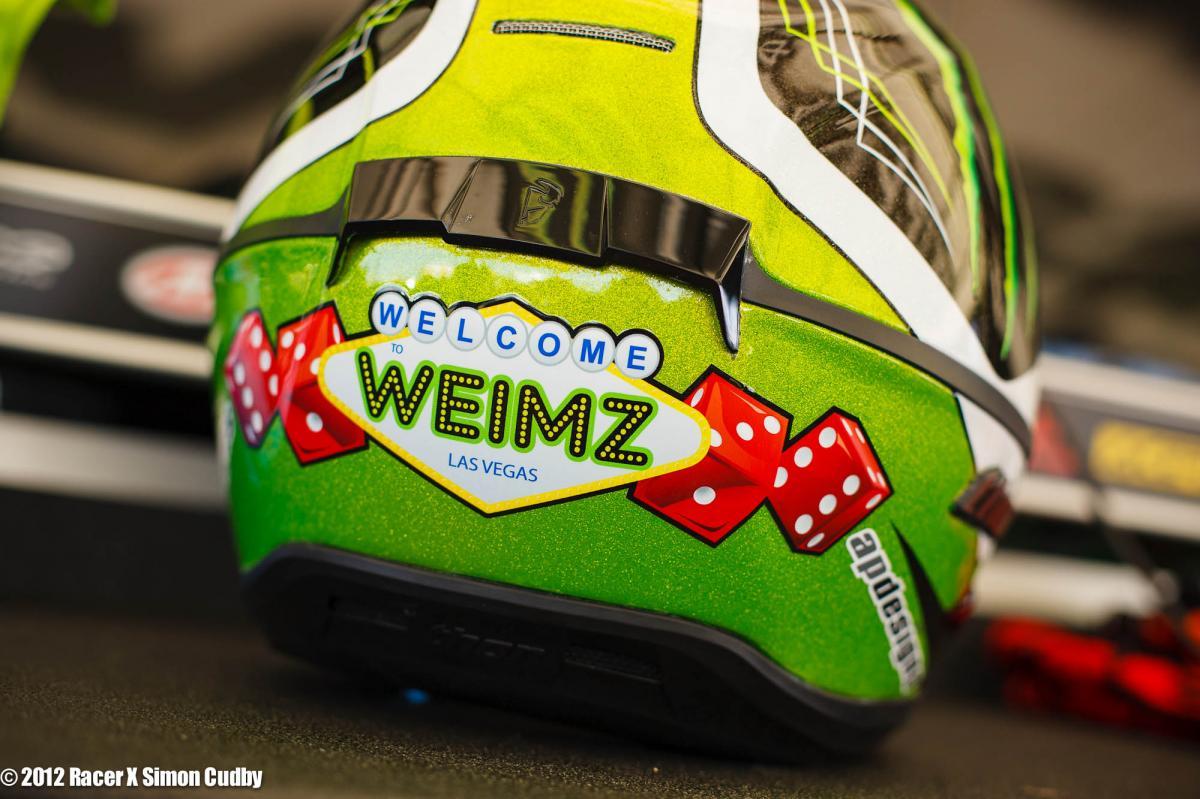 Jake Weimer's helmet