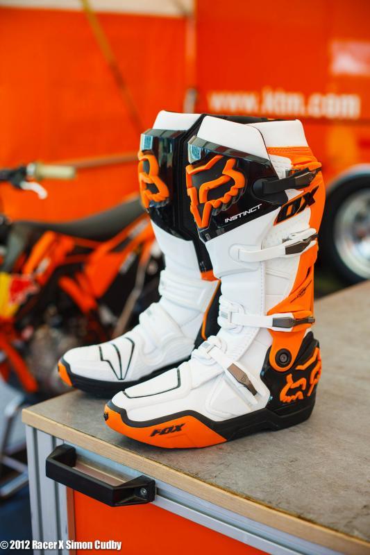 Ken Roczen's Fox boots