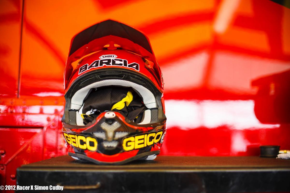 Justin Barcia's helmet