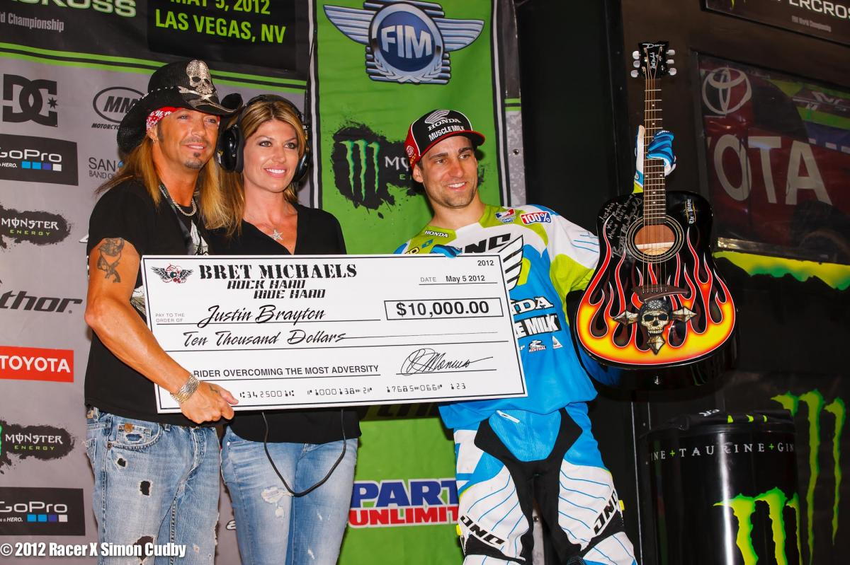 Rock Hard Ride Hard Award to Justin Brayton