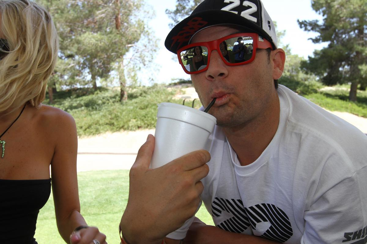 Chad Reed relaxing at the R2R Golf Tournament