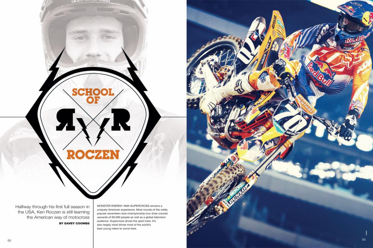 At the halfway point of his debut American season, German teenager Ken Roczen is starting to find his way. Page 152.